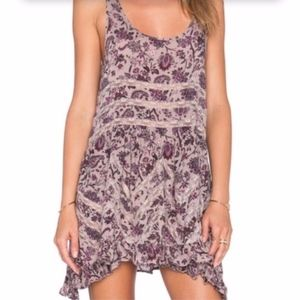 Free People Paisley Voile Lace Trapeze Slip NEW!